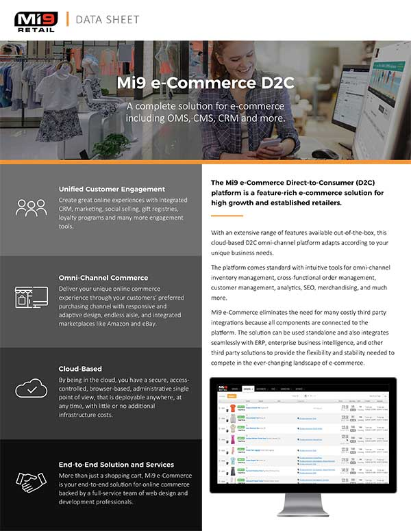 Mi9 e-Commerce D2C Data Sheet